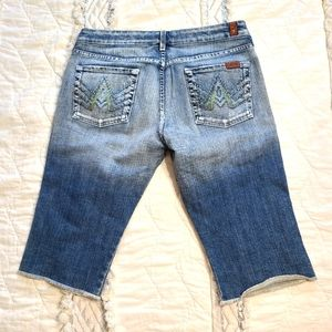 7 For All Mankind A Pocket cropped jeans